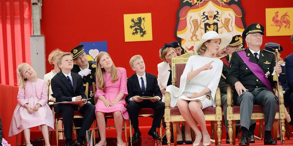 The Royal Family attends the military parade for National day