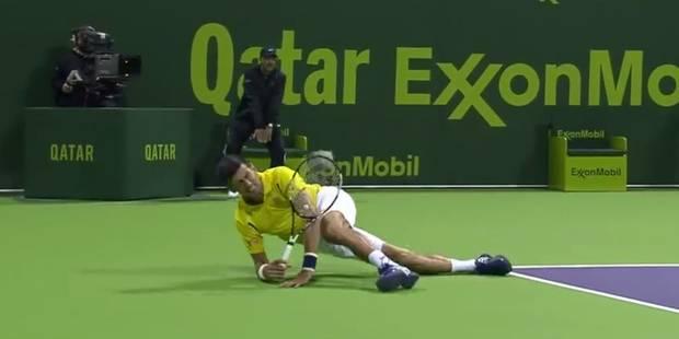 Grosse frayeur pour Djokovic à Doha (VIDEO) - La Libre