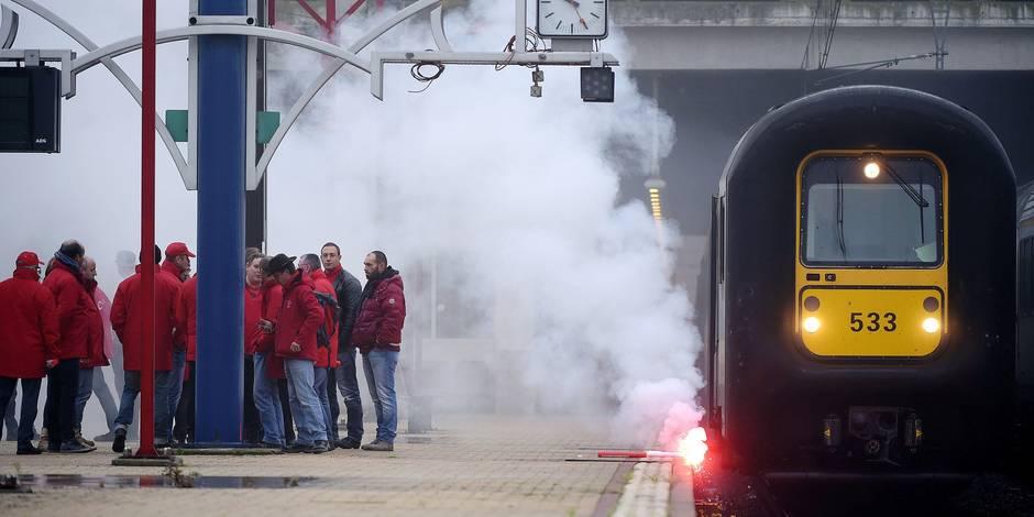 Grève du rail : la fracture Nord-Sud des syndicats arrange le gouvernement - La Libre
