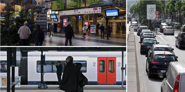 Grève du rail: quasi aucun train en Wallonie, action de la CGSP Cheminots devant le cabinet Galant - La Libre