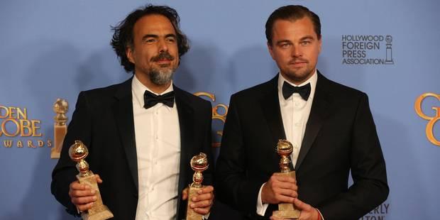 """""""The Revenant"""" et Leonardo DiCaprio au sommet aux Golden Globes - La Libre"""