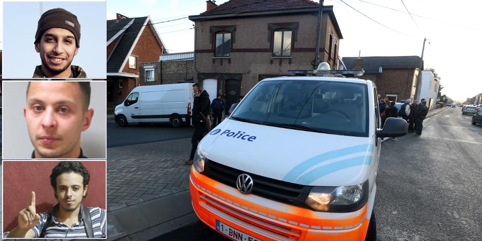 Attentats de Paris: les enquêteurs belges ont découvert trois planques, Abaaoud était caché à Charleroi
