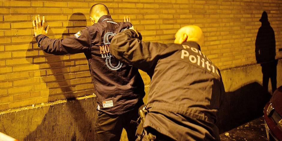 Bruxelles - Saint-Josse: securisation par la police de la zone bruxelles - nord