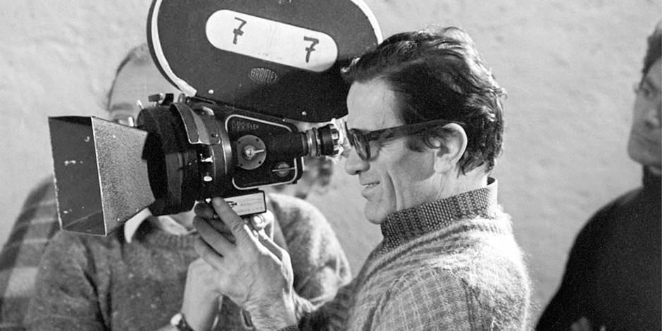 Italian film director Pier Paolo Pasolini