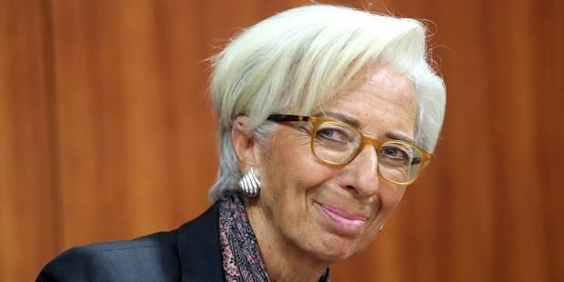 """Christine Lagarde """"candidate pour un 2e mandat"""" à la tête du FMI - La Libre"""