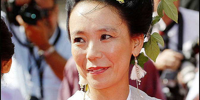 Naomi Kawase arriving at the Palais des Festivals for the screening of the film Still The Water (Futatsume No Mado) as part of the 67th Cannes Film Festival in Canne, France, may 20, 2014. Photo by Ollivier-MF/ABACAPRESS.COM Reporters / Abaca