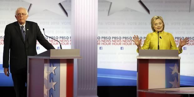 Débat tendu entre Hillary Clinton et Bernie Sanders - La Libre