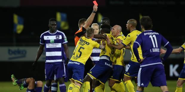 Anderlecht voit rouge à Waasland-Beveren (1-0) - La Libre