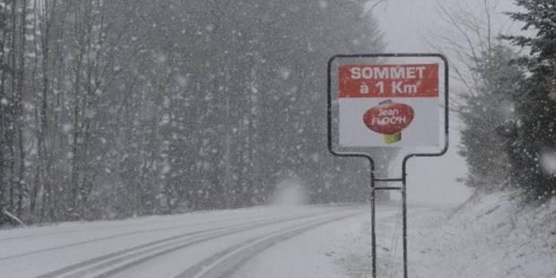 La 3e étape de Paris-Nice neutralisée en raison de la neige - La Libre