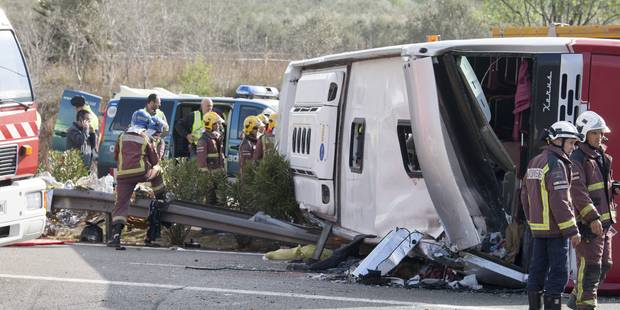 Accident de car en Espagne: sept Italiennes et deux Allemandes tuées - La Libre