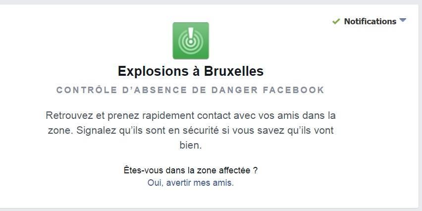 """Attentats à Bruxelles : le bouton """"safe check"""" activé sur Facebook"""