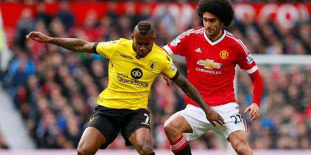 Belges à l'étranger: ManU, avec Fellaini, s'impose contre Aston Villa relégué - La Libre