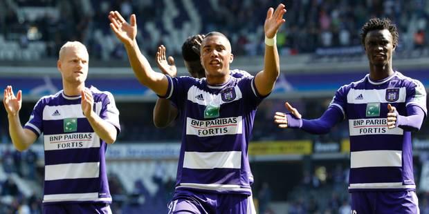 Anderlecht rejoint le Club Bruges en tête après sa victoire contre La Gantoise (2-0) - La Libre