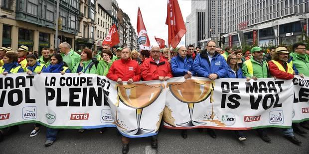 Manifestation à Bruxelles: 60.000 personnes ont défilé selon la police - La Libre