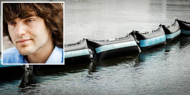 Le jeune Boyan Slat (21 ans) dévoile son prototype pour dépolluer les océans - La Libre