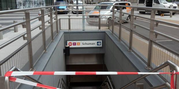 La station de métro Schuman inaccessible pendant le sommet européen - La Libre