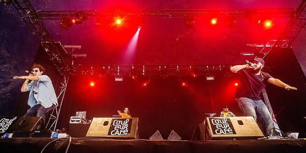 JeanJass et Caballero en concert avec la formation éphémère Niveau4 lors du festival Couleur Café 2016