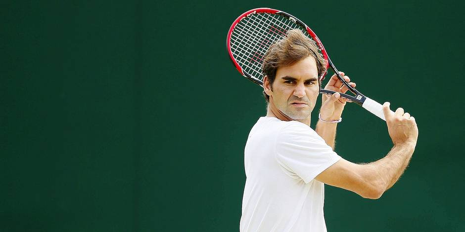 Roger Federer practices on an outside court during day eleven of the 2016 Wimbledon Championships at the All England Lawn Tennis Club, Wimbledon, London on the 7th July 2016 / Tennis - Wimbledon Championships 2016 Day Eleven All England Lawn Tennis & Croquet Club, Church Rd, London, United Kingdom 07 July 2016 Â PUBLICATIONxNOTxINxUKxFRAxNEDxESPxSWExPOLxCHNxJPN BPI_BQ_Wimbledon_Day11_0176.jpg Roger Federer practices ON to Outside Court during Day Eleven of The 2016 Wimbledon Championships AT The All England Lawn Tennis Club Wimbledon London ON The 7th July 2016 Tennis Wimbledon Championships 2016 Day Eleven All England Lawn Tennis & Croquet Club Church rd London United Kingdom 07 July 2016 Â PUBLICATIONxNOTxINxUKxFRAxNEDxESPxSWExPOLxCHNxJPN jpg Reporters / Imago Sport