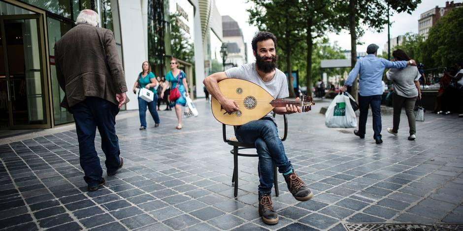 20160726 - BRUXELLES, BELGIQUE: BELGIQUE BRUXELLES Hussein Rassim Portrait Migrant refugie d 'Irak PHOTO JOHANNA DE TESSIERES