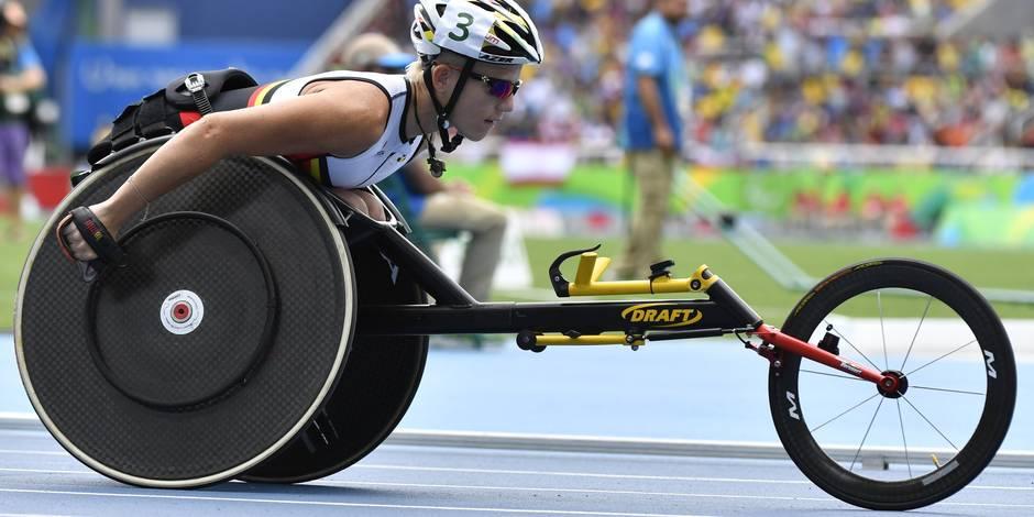 La sprinteuse belge Marieke Vervoort remporte l'argent aux Jeux paralympiques