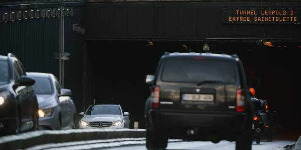 Bruxelles: le tunnel Léopold II ferme durant 25 minutes, des retards à prévoir - La Libre