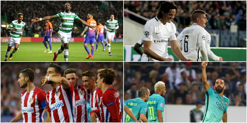 C1: l'Atlético impressionne, City surpris au Celtic, le PSG évite la crise