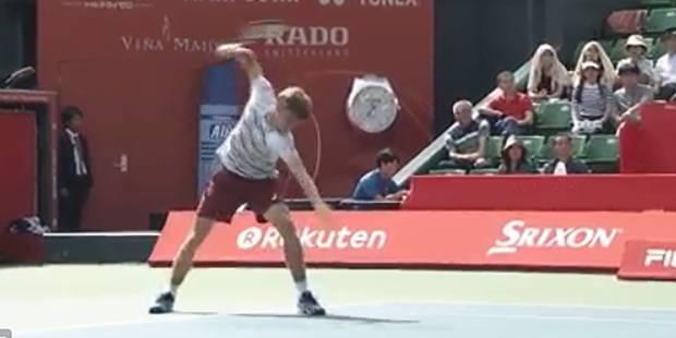 David Goffin explose sa raquette en plein match (VIDEO) - La Libre