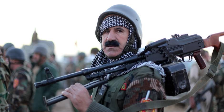 """Des soldats d'élite en plein """"nettoyage"""" sur la route de Mossoul"""