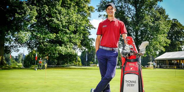 Belgian Thomas Detry poses for the photographer during the 'Thomas Pieters Belgian Tour' golf event in Tervuren, Tuesday 30 August 2016. BELGA PHOTO LUC CLAESSEN