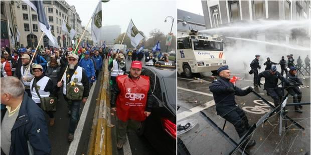 Bruyante manifestation des militaires qui n'obtiennent qu'une promesse de concertation (PHOTOS + VIDEO) - La Libre