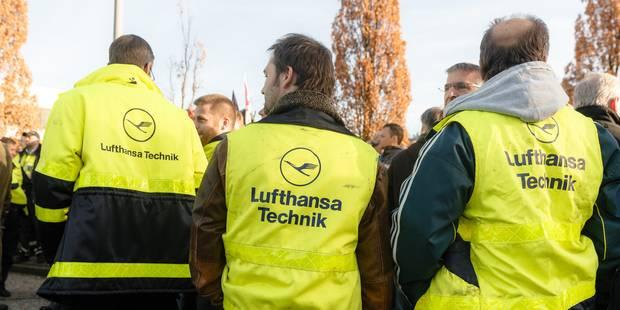 Troisième jour de grève des pilotes de Lufthansa, plus de 800 vols annulés, une centaine samedi - La Libre