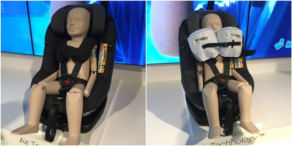 Bébé Confort invente le siège auto pour enfant avec airbag
