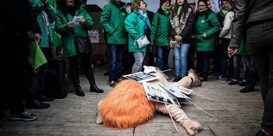 ING, Axa, P&V, Crelan: les syndicats allument le gouvernement - La Libre