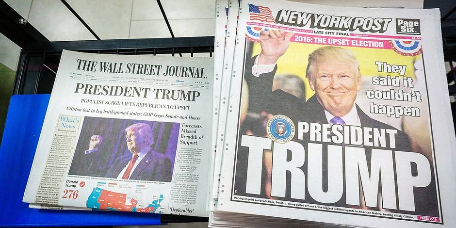 News Corp. papers in New York report on Trump victory
