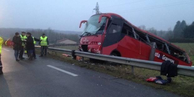 France: quatre morts et une vingtaine de blessés dans un accident de bus en Saône-et-Loire - La Libre
