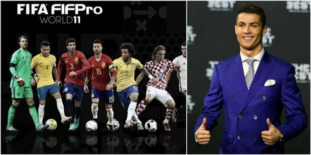 Prix Fifa: Cristiano Ronaldo joueur de l'année, le Real et le Barça en force dans le 11 type - La Libre