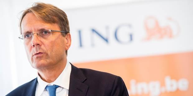 Le patron d'ING Belgique, Rik Vandenberghe, quitte le groupe en pleine restructuration - La Libre
