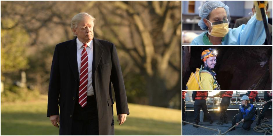 """Trump veut que les femmes """"s'habillent comme des femmes""""... Elles lui répondent"""