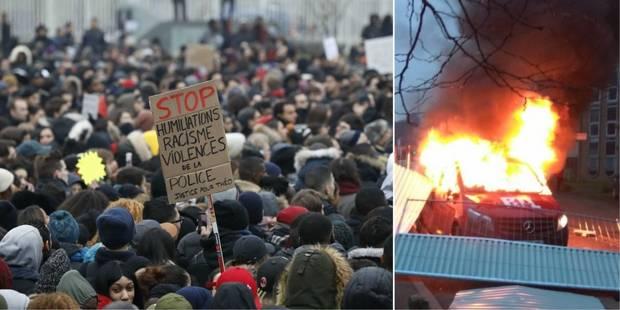 Explosion, casse et incendie: incidents en marge d'une manifestation pour Theo en France (VIDEOS) - La Libre