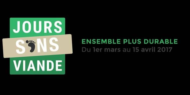 """""""Jours Sans Viande"""", le nouveau défi lancé pour réduire son empreinte écologique - La Libre"""