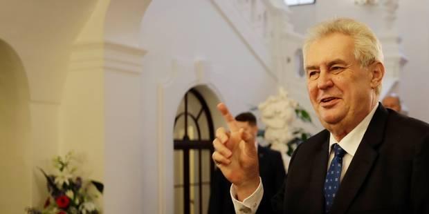 Le président tchèque Milos Zeman briguera un second mandat en 2018 - La Libre