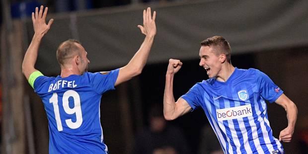 Europa League: Genk sort Gand et passe en quart de finale (1-1) - La Libre