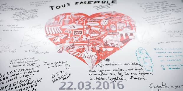 Brussels, Belgium, april 25th, Maalbeek metro station reopening, one month after a bomb attack © Merlin Meuris / Reporters Reporters / MEURIS