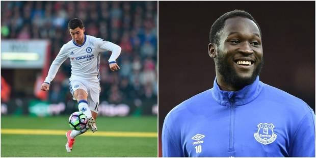 Eden Hazard et Romelu Lukaku nominés pour le titre de Joueur de l'année en Angleterre - La Libre