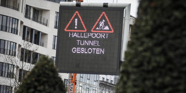 Le tunnel Porte de Hal à nouveau fermé à partir du 19 mai pour rénovation - La Libre