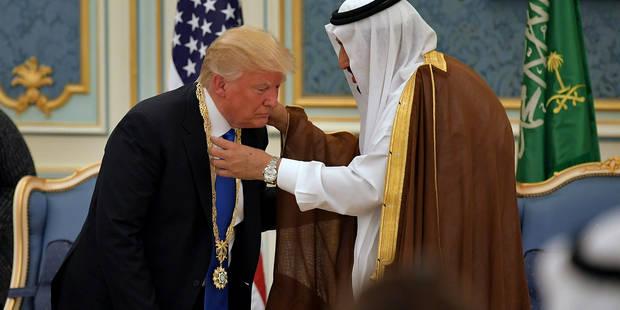 """Arabie Saoudite: Trump reçoit la plus haute reconnaissance pour ses """"efforts de paix"""" - La Libre"""