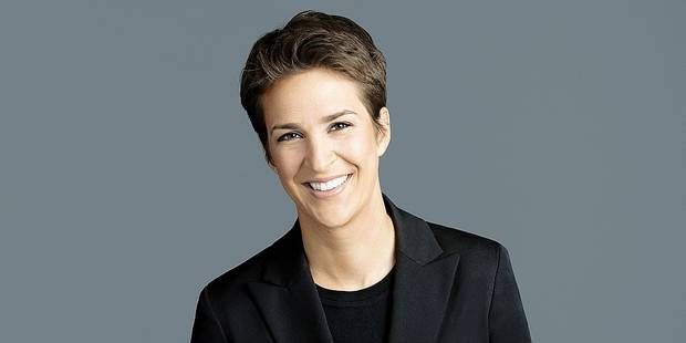 "This image released by NBC shows Rachel Maddow, host of ""The Rachel Maddow Show,"" on MSNBC. (MSNBC via AP)"