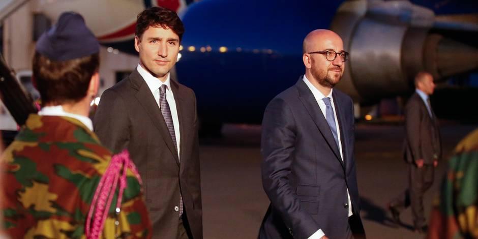 Le Premier ministre canadien Justin Trudeau a atterri en Belgique