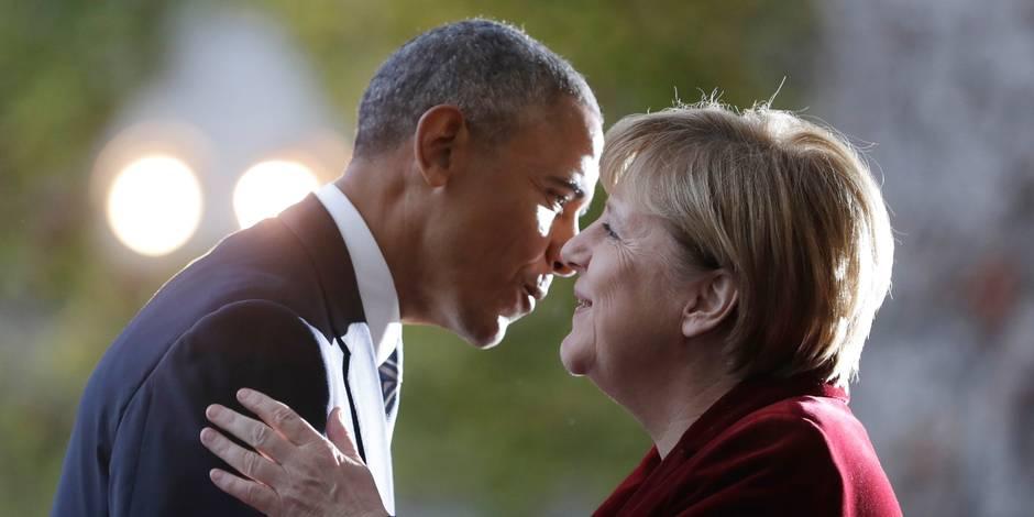 Réunion à l'Otan: Merkel discute démocratie avec Obama avant la réunion de l'Otan avec Trump