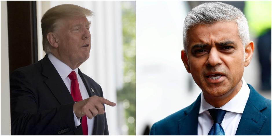 Encore une fois, Trump s'en prend au maire de Londres sur Twitter